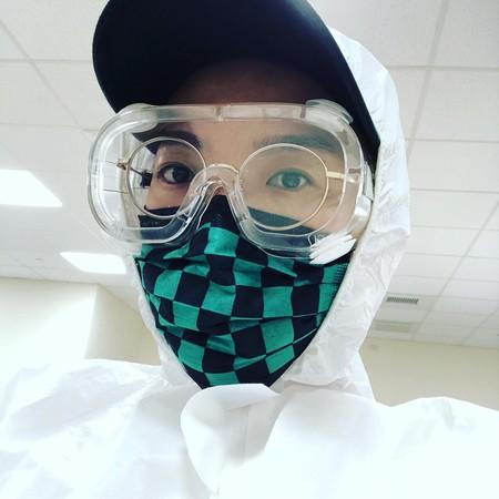 ▲張芸京去做核酸檢測。(圖/翻攝自臉書/張芸京 Jing Chang)