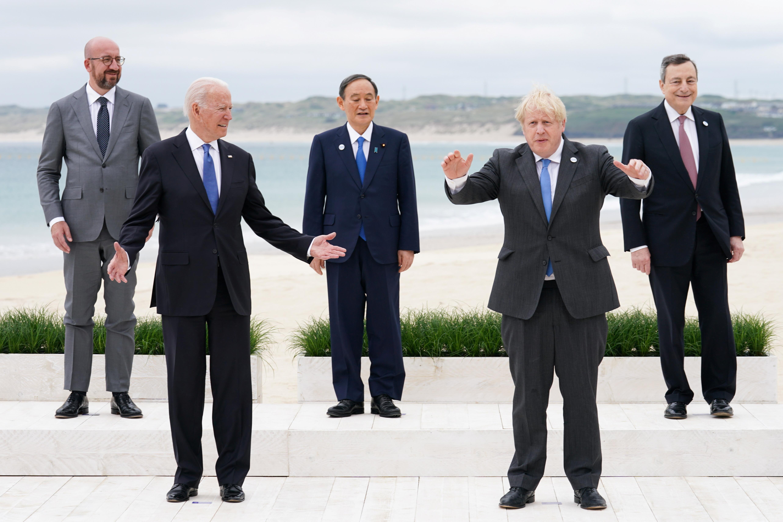 G7,拜登,一帶一路,中國,基礎建設,歐盟,疫苗,外交,馬歇爾計畫,美國優先,拜登,亞太再平衡