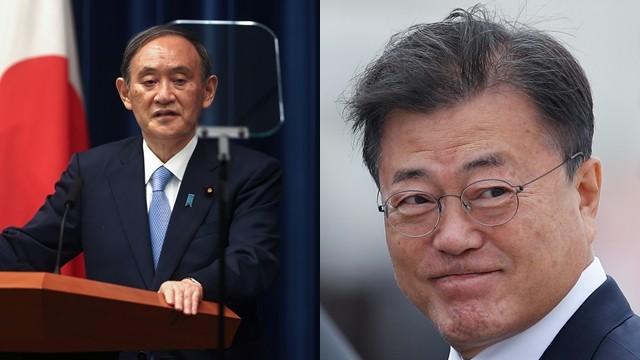 ▲菅義偉、文在寅仍未進行首次的日韓元首會談。(圖/路透社)