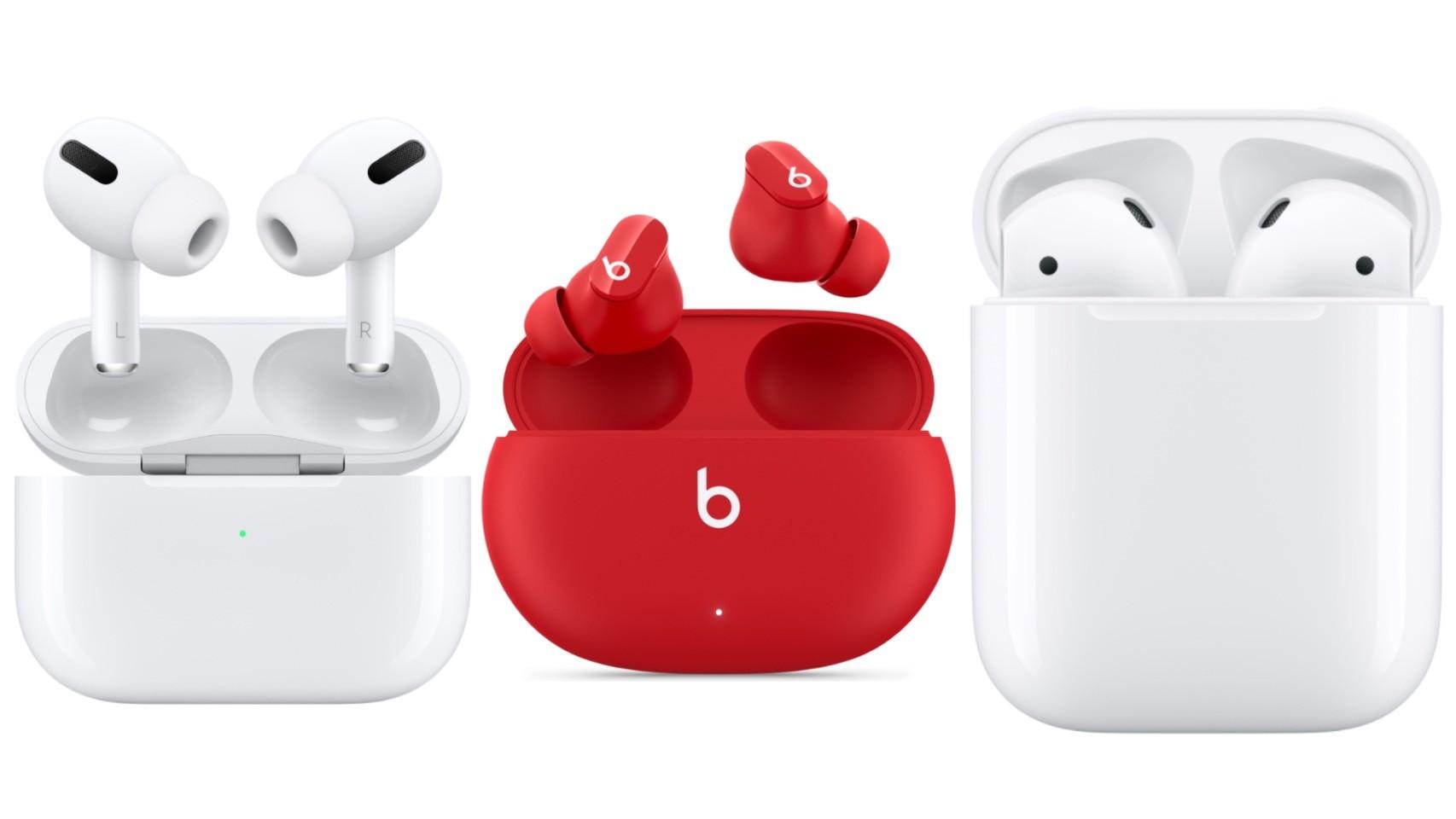 ▲蘋果三款無線耳機比較。(圖/取自蘋果官網)