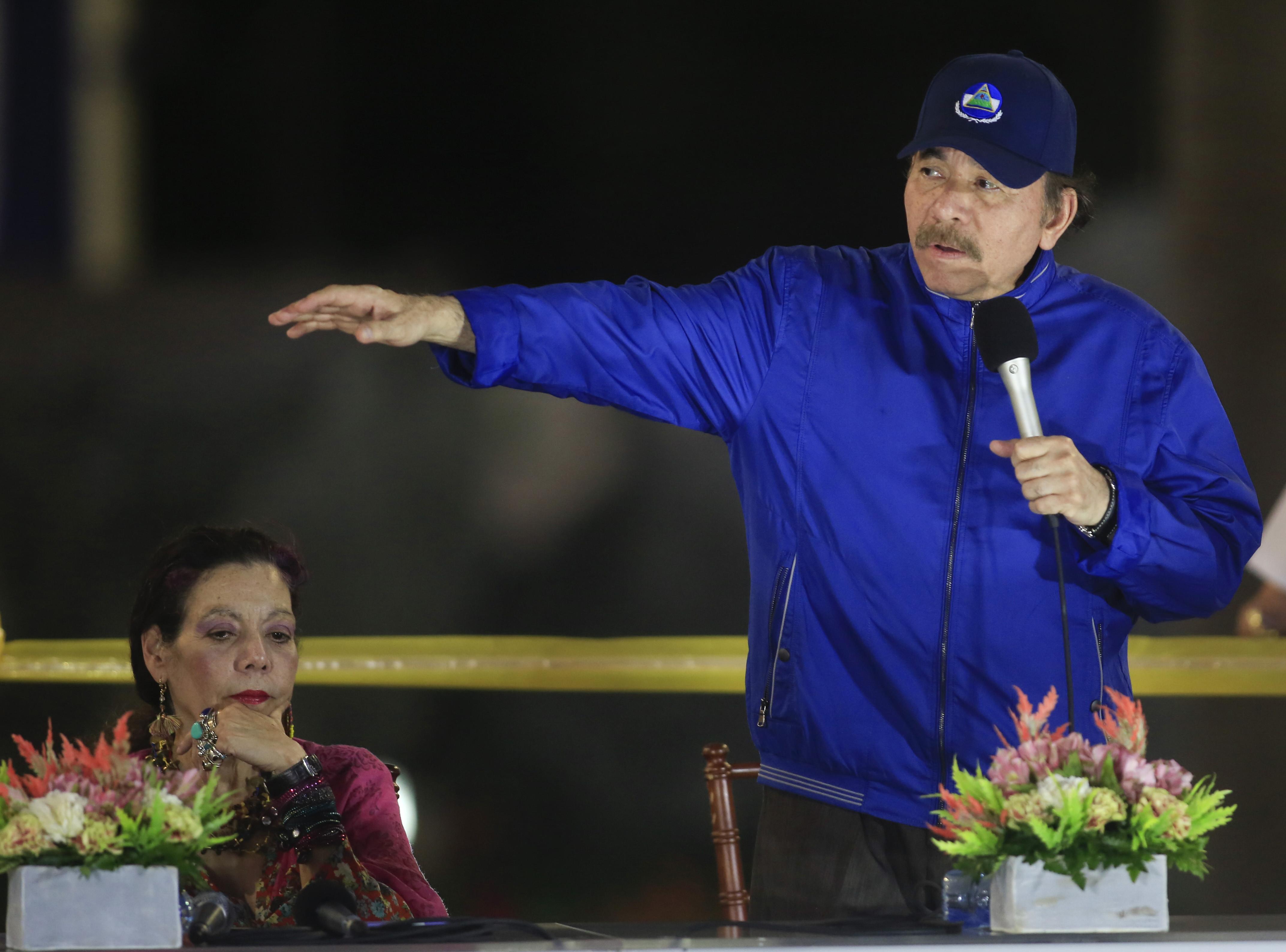 ▲▼尼加拉瓜總統奧蒂嘉被指控逮捕反對派陣營人士,只為謀求年底連任。(圖/達志影像/美聯社)