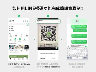 更方便!LINE掃碼功能開放支援簡訊實聯制
