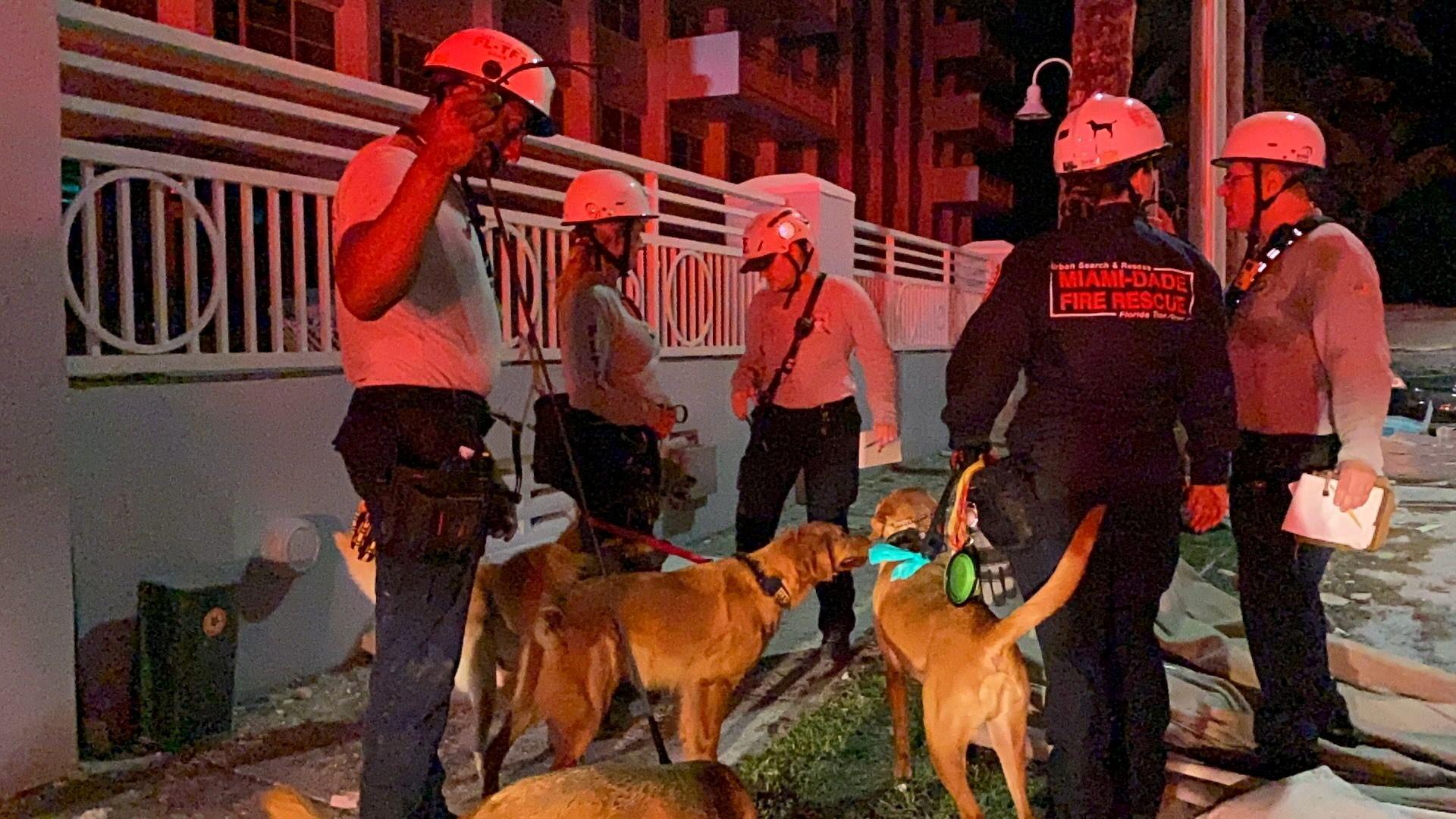 ▲▼邁阿密海濱一棟公寓大廈30秒內崩塌,多名住戶失聯。(圖/路透社)