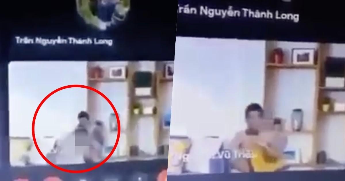 ▲▼越南胡志明市某男大生竟趁遠距教學時與女友發生性行為,遭鏡頭拍下。(圖/翻攝自Thanh Niên)