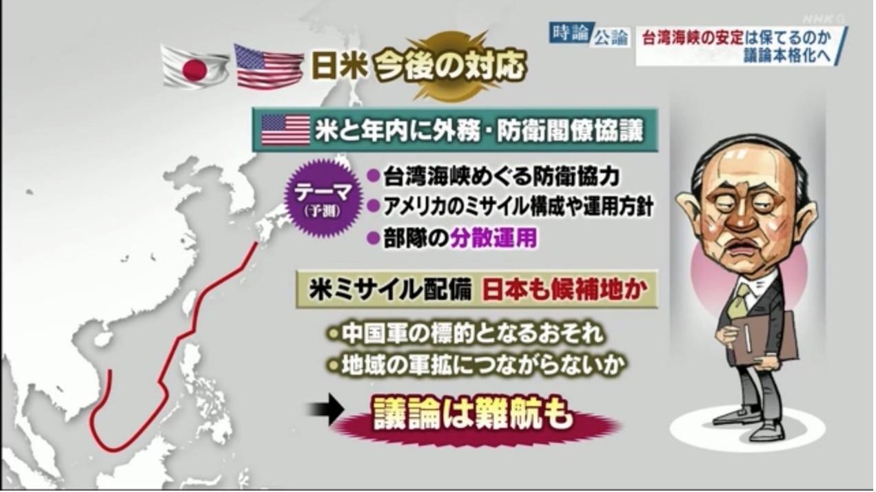 日本,台灣海峽,戰略,中國,太平洋,美日台,中山泰秀,菅義偉,岸信夫,美國,拜登