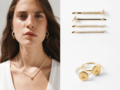 ZARA「字母珍珠項鍊」美出新高度!髮夾、戒指配成一整套