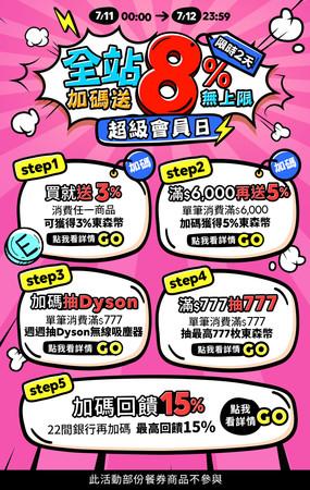 ▲東森購物網超級會員日。(圖/公關提供)