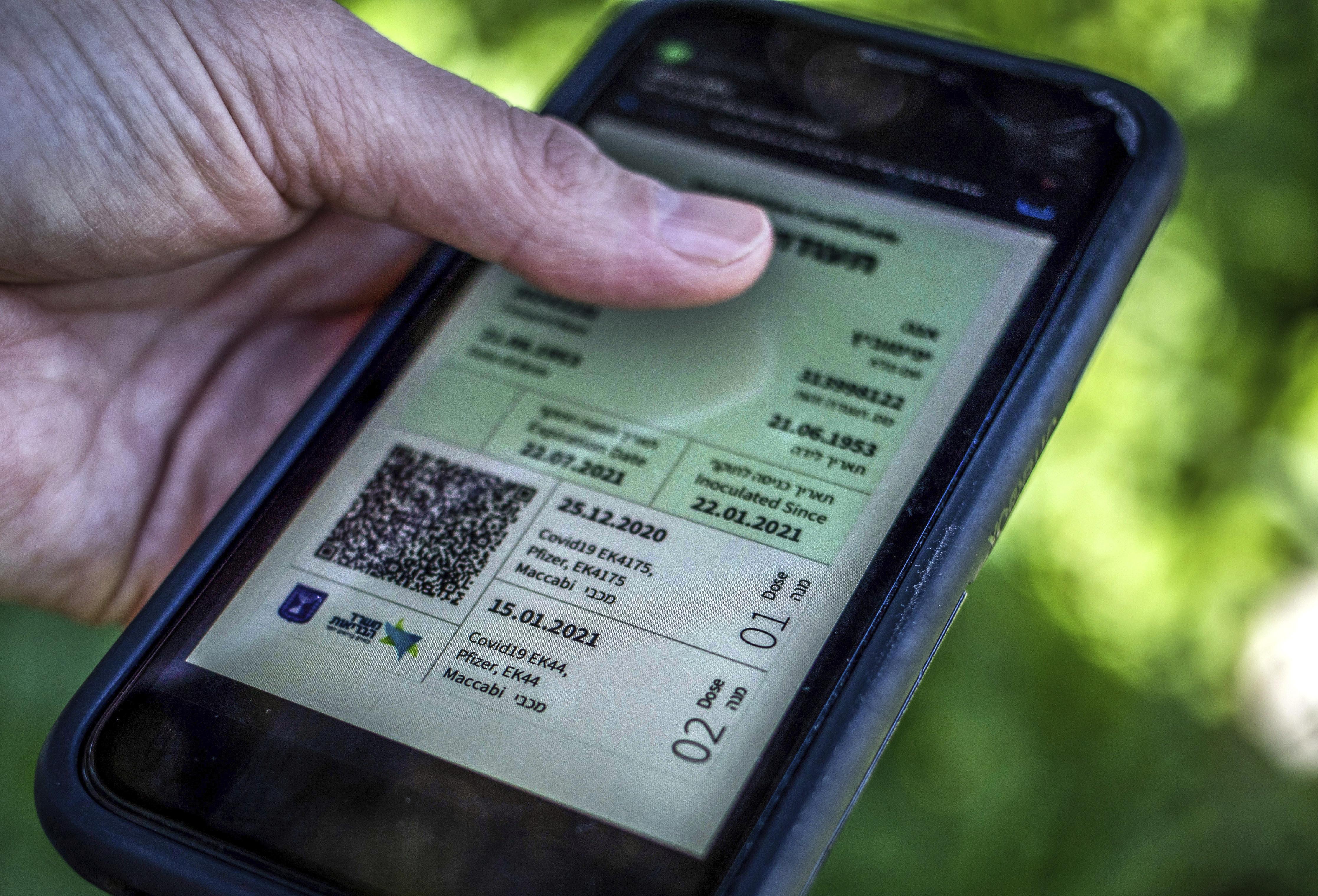 ▲▼以色列推出「綠色通行證」,以恢復日常生活上的便利鼓勵民眾接種疫苗。(圖/達志影像/美聯社)