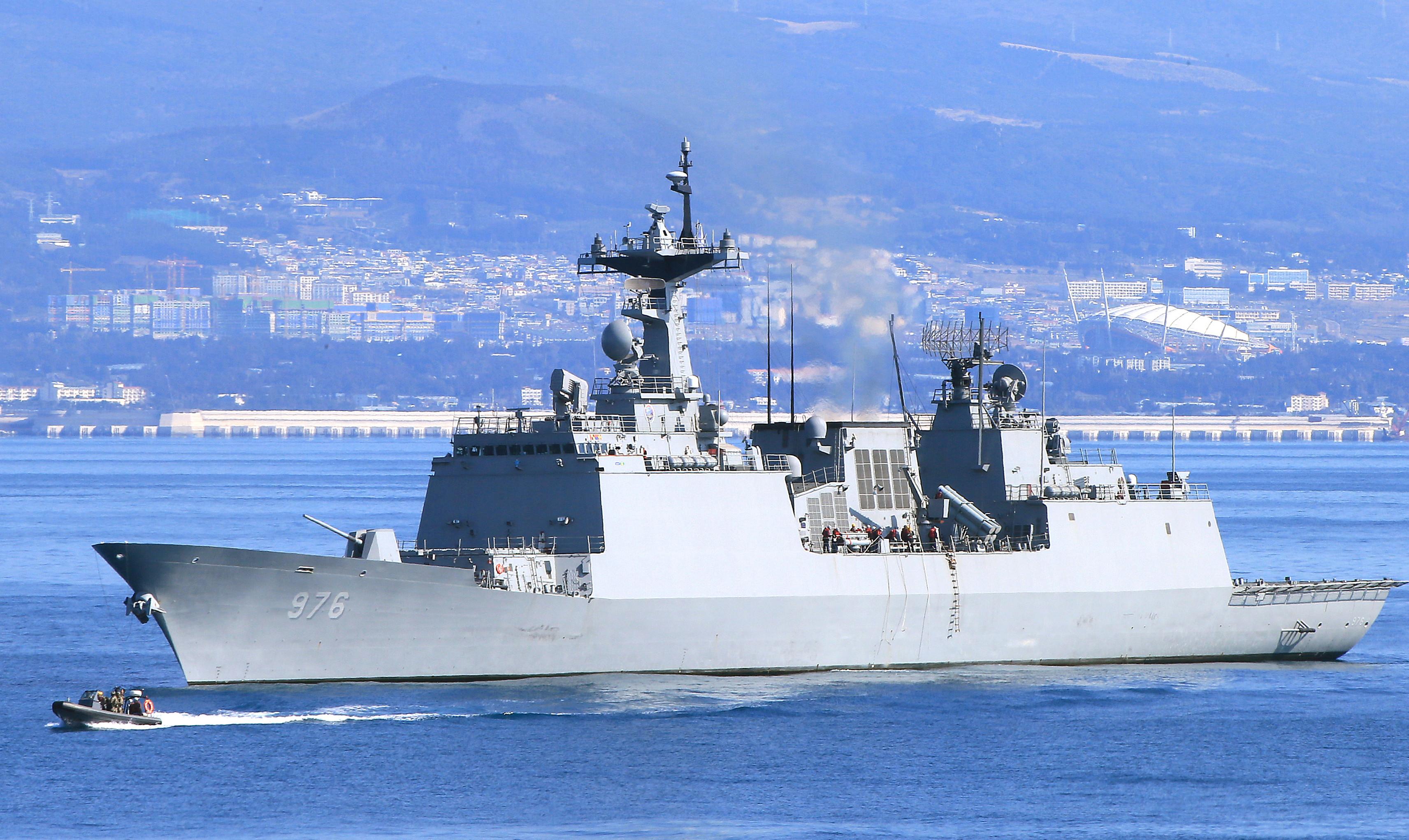 ▲▼搭乘文武大王級驅逐艦的清海部隊,傳出至少有6名官兵與幹部確診。(圖/達志影像)