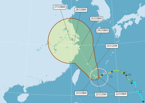 看到台灣就轉向!網驚「已1年沒颱風假」都逃跑 爆出恐怖事實