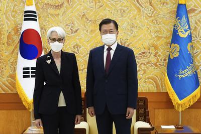 美副國務卿抵韓!會晤鄭義溶、獲文在寅接見:南韓是美國重要夥伴