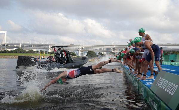 ▲▼ 東京奧運,男子鐵人三項。(圖/路透)