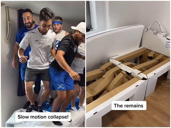 東奧「紙板床」實測影片曝光! 9名棒球選手同時猛跳才壓垮