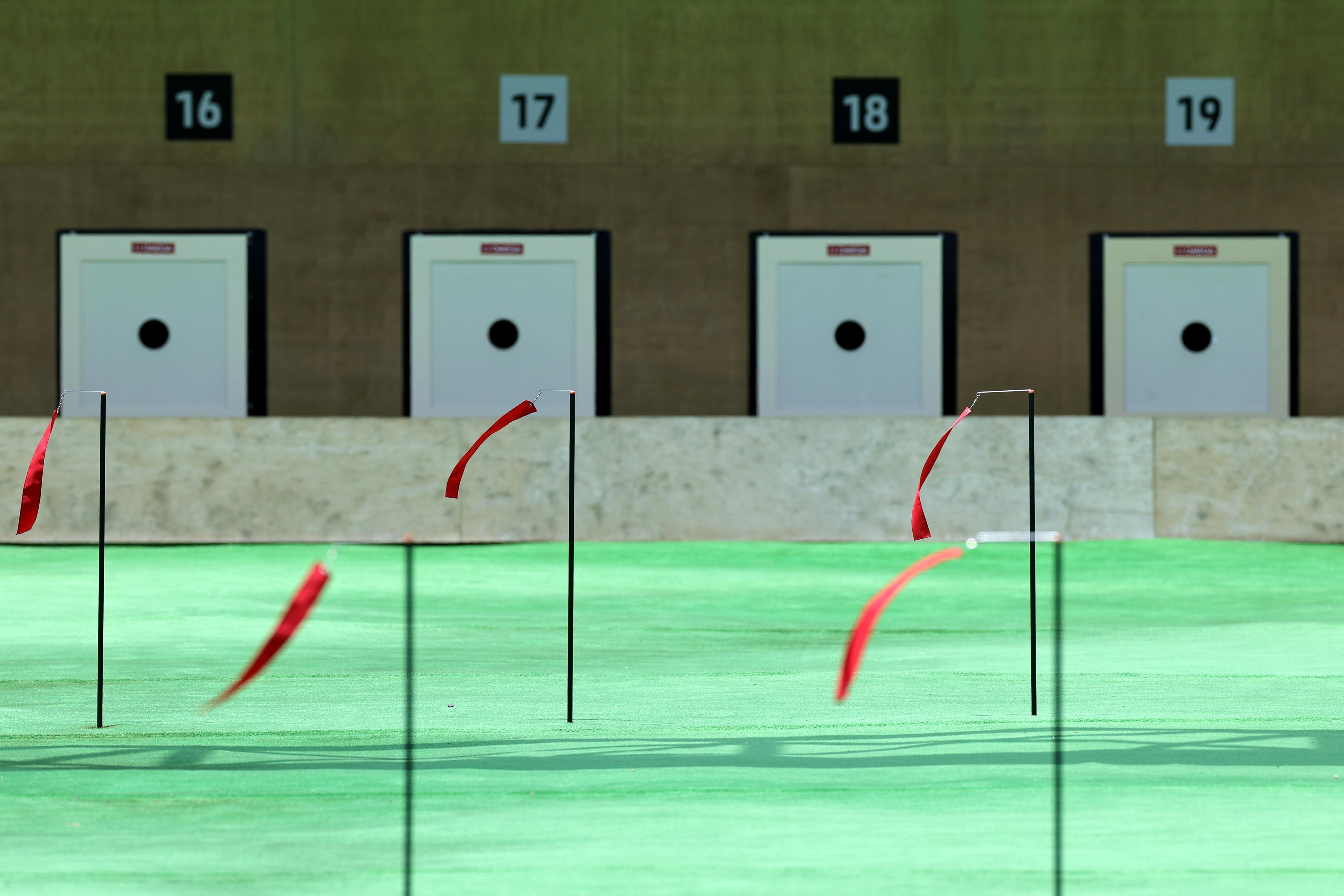 ▲▼烏克蘭射擊選手庫里什在決賽時失誤射中別人的靶,從8人中最先被淘汰。(圖/路透社)