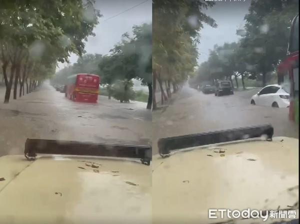 [新聞] 快訊/瀑布式暴雨!國家警報響不停 台中