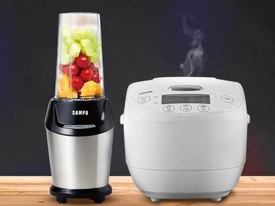 聲寶調理機、TOSHIBA電子鍋特價!輕鬆做細密冰沙、煮超香米飯