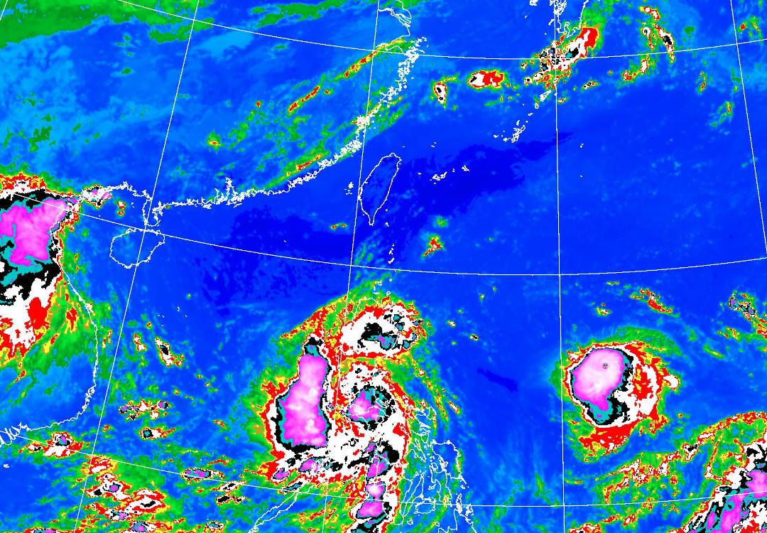 ▲▼璨樹可能增強為強烈颱風,周末影響台灣。(圖/氣象局)
