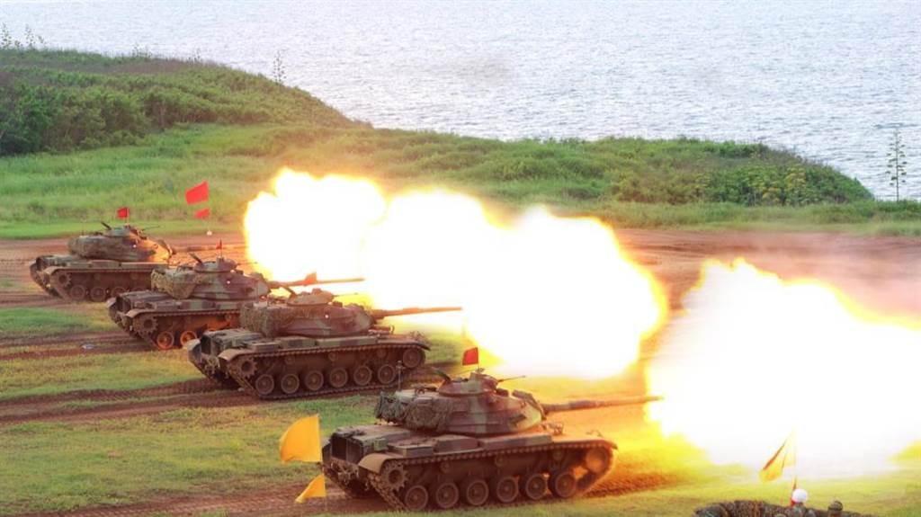 艾布蘭,M1A2T,戰車,陸軍,國防部,裝甲兵,訓練場,訓練彈,靶場,射擊