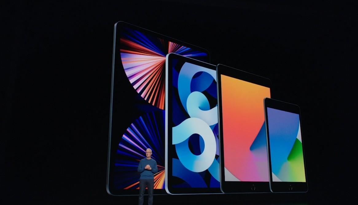 ▲▼庫克介紹全新推出的iPad。(圖/翻攝蘋果發表會直播)