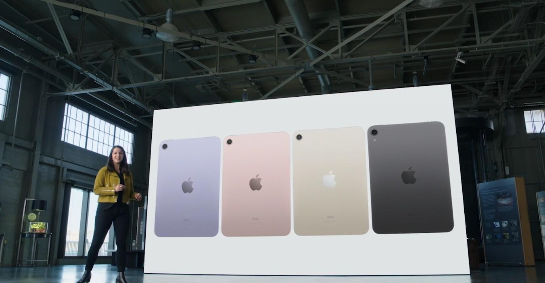 ▲▼iPad Mini新功能及新顏色公布。(圖/翻攝蘋果發表會直播)