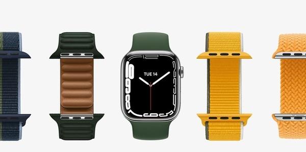 ▲Apple Watch 7顏色 。(圖/取自蘋果發表會).JPG