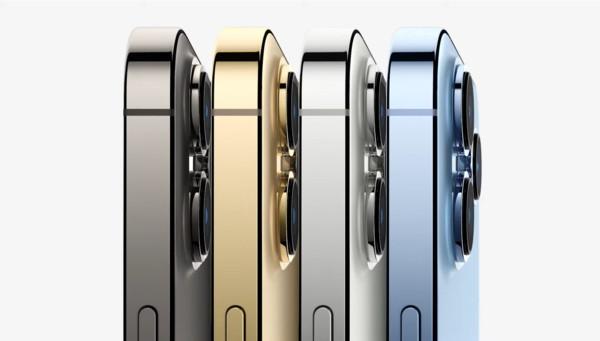 ▲▼iPhone 13 Pro有石墨色、金色、銀色及遠峰藍4種顏色。(圖/翻攝自直播/蘋果發表會)