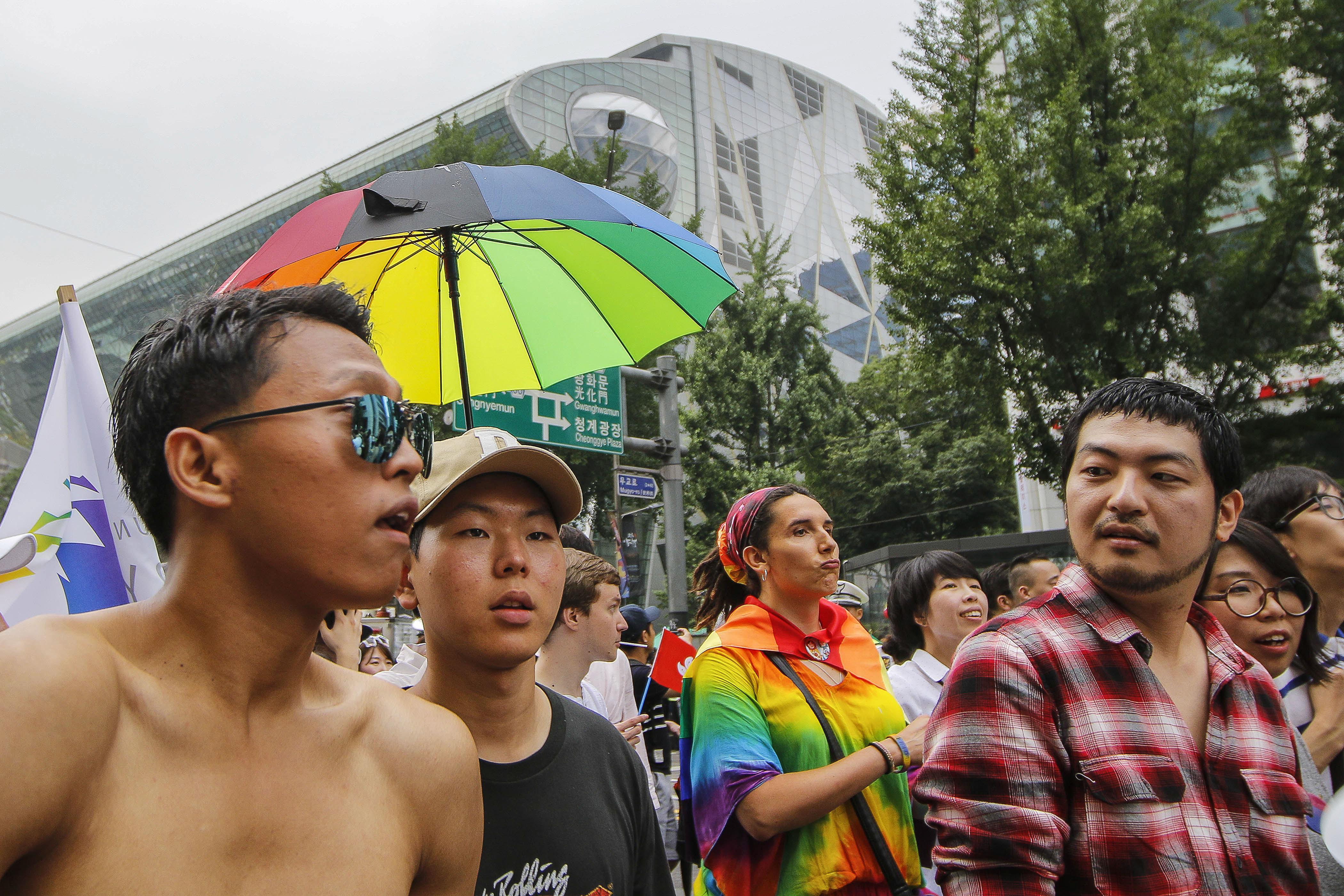 ▲▼2016年首爾同志大遊行。(圖/達志影像)