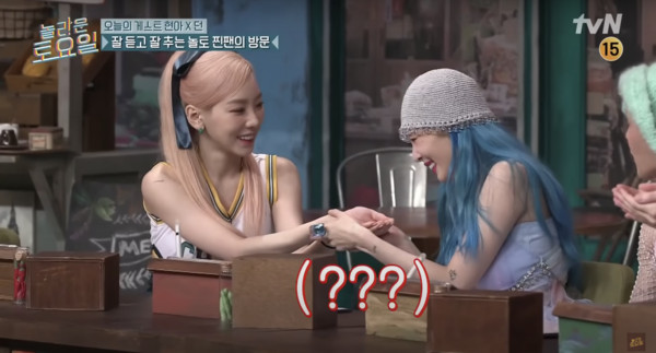 ▲▼Hyuna debuted half a year earlier! When she heard that she was about to throw up, Taeyeon's witty response was blasted: she is a senior.  (Picture/Retrieved from tvN)