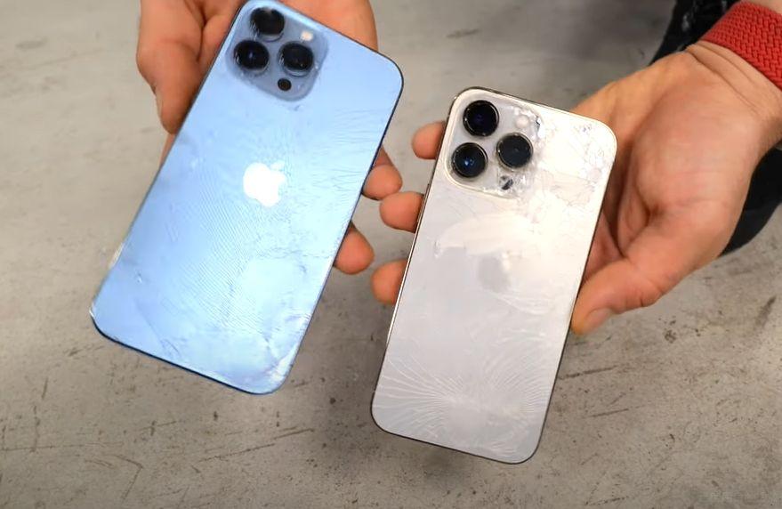 ▲iPhone 13 Pro摔落測試。(圖/翻攝自YouTube/EverythingApplePro E A P)