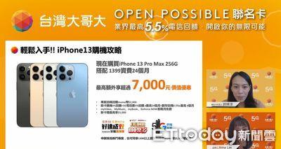 又一張「iPhone 13神卡」! 購機最高可享7000元優惠