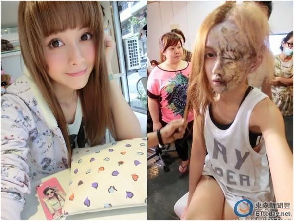 「小林志玲」馮媛甄半臉毀容 頂著活屍妝加碼送美腿