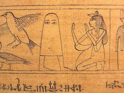 一條床單兩條腿..埃及神造型太Kuso啦