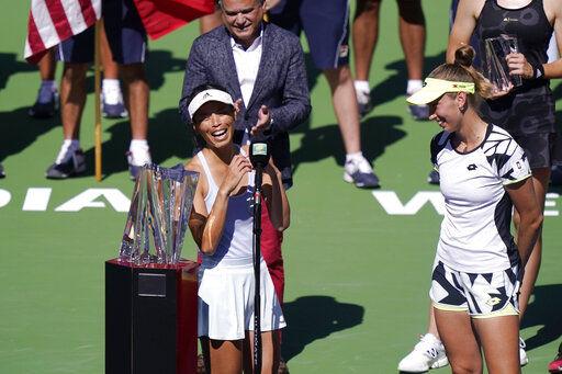 [新聞] 3度印地安泉網賽奪冠 謝淑薇重返世界第