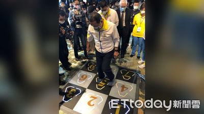 神寶智能運動地墊獲選「新現代五項科技運動會」競賽項目 侯友宜親自體驗