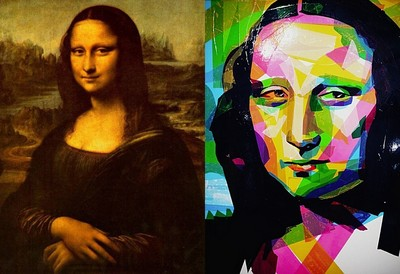 誰說蒙娜麗莎只能用畫的,偏貼給你看