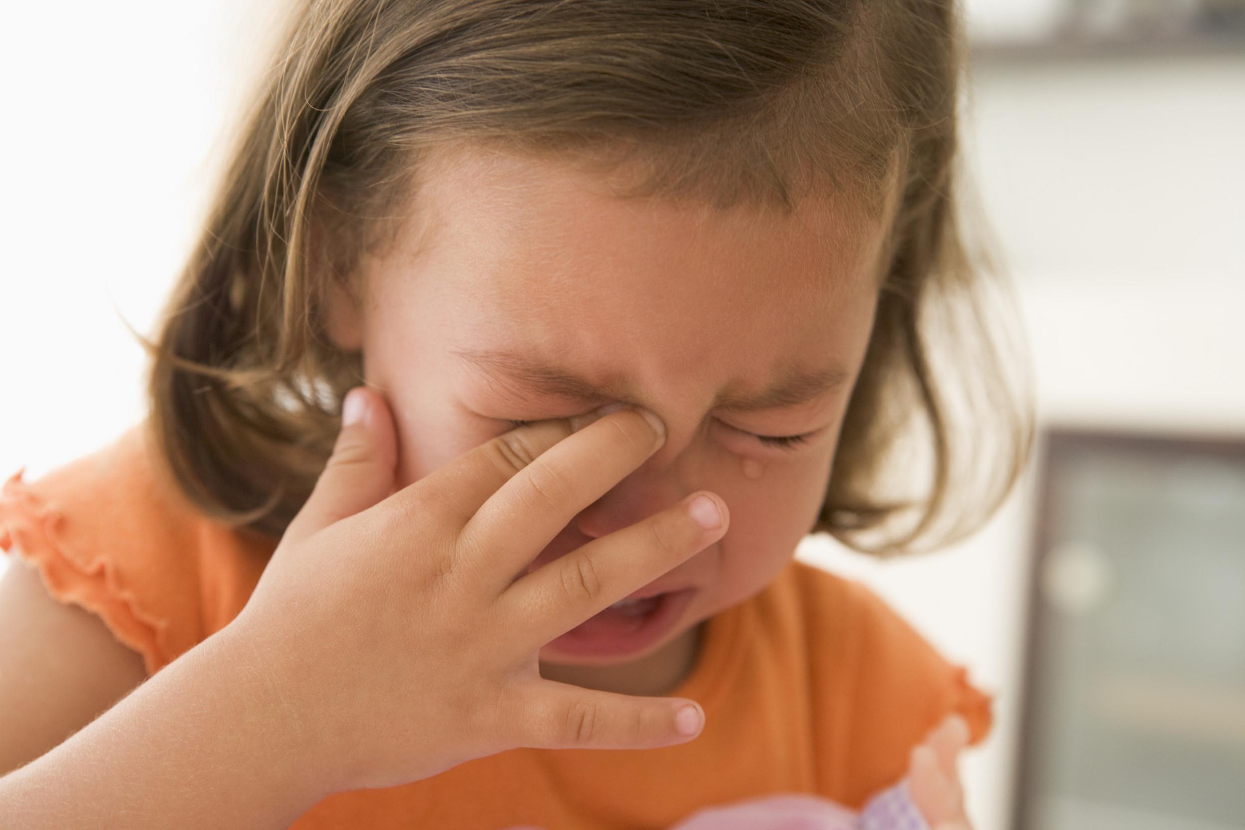 女童哭泣示意圖(圖/達志/示意圖)
