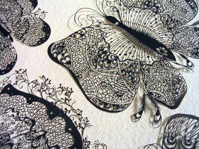 日本超神剪紙藝術,細膩到我頭皮發麻