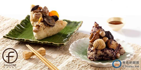 看準現代人重視健康商機,太平洋鮮活超市推出主廚養生粽、樂菲超市祭出包粽食材7折起,吸引消費者青睞。