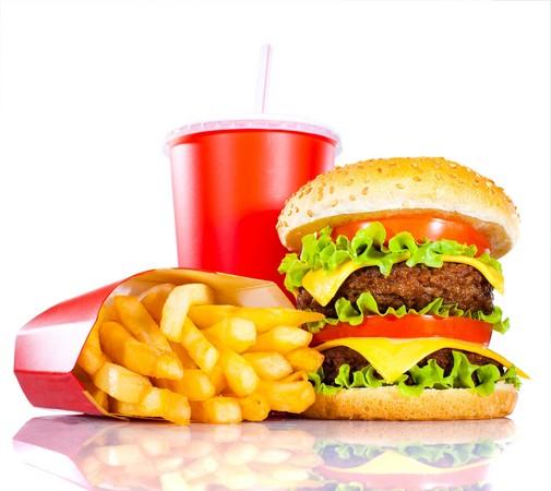 漢堡+薯條+可樂。(圖/達志影像/示意圖)