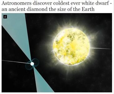最寒冷白矮星可能是「鑽石星球」
