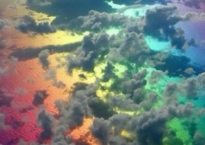 高空俯看的彩虹?當我理化老ㄙ請假呀