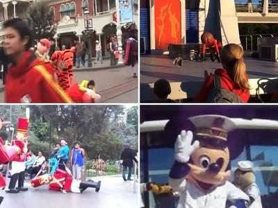 小孩夢醒:迪士尼人偶面罩居然掉了..