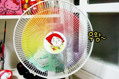 網友推手繪彩虹電風扇…還真有人照做
