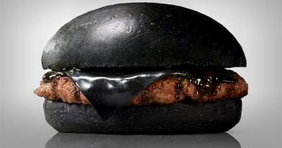 黑「心」漢堡..起司染成黑色沒問題嗎