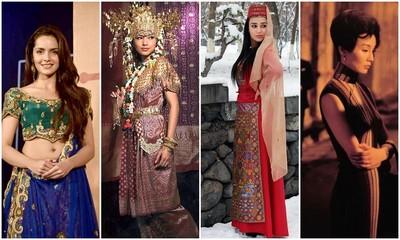 異族女孩的傳統服裝..我還是最愛旗袍