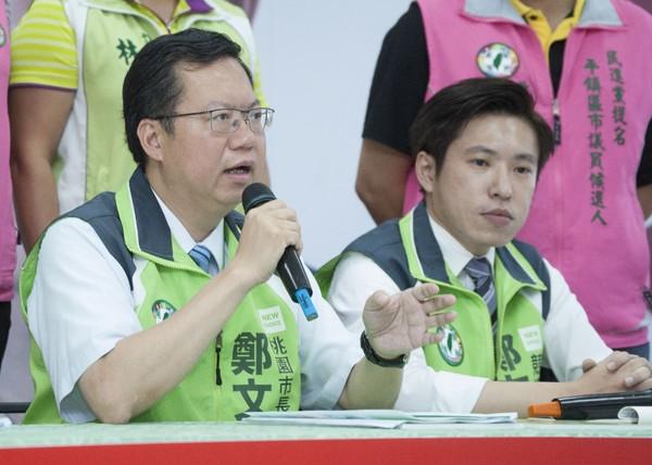 民進黨桃園市長候選人鄭文燦18日宣布環保政策。(圖/鄭文燦辦公室提供)