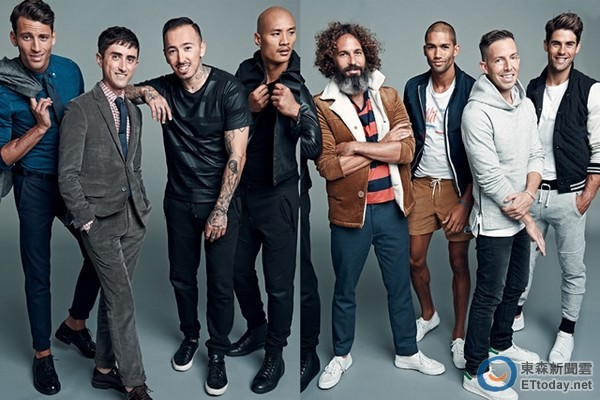 Gap推出GQ男裝聯名款系列服飾