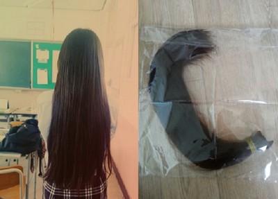 女學生一口氣剪掉30cm長髮,理由是…