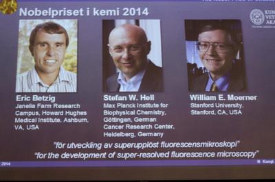 諾貝爾化學獎 3德美學者共享