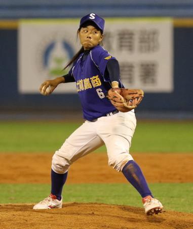 ▲士林高商最後一任投手巫婕瑜,以再見三振結束比賽。(圖/中華棒協提供)